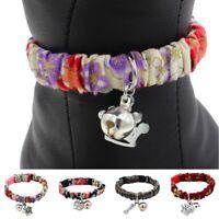 Pet Cat Collar Pet Puppy Kitten Adjustable Soft Safety Buckle Neck Strap Bell US