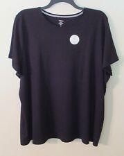 Womens Croft & Barrow S/S Black Top/T-Shirt, 3X, 100% Cotton, NWT