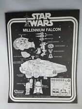 Vintage Original 1979 Star Wars Millennium Falcon Instructions Sheet