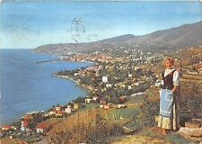 Bg3146 san remo folklore types costume locale e panorama Cpsm 15x9.5cm italy