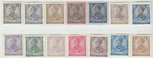 PORTUGAL AÇORES  1910  ISSUE FULL SET UNUSED SCOTT 112/25