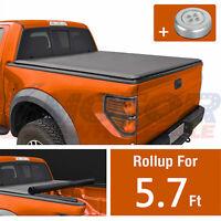 Soft Vinyl Roll-Up Tonneau Cover 5.7 Short Bed Fleetside For Nissan Titan 04-15