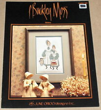 "P Buckley Moss ""Sisters"" Doll & Basket of Apples Cross Stitch Pattern"