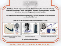2020 Topps Dynasty Baseball Hobby Live Random Player 1 Box Break #1