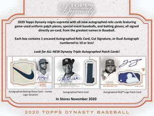 2020 Topps Dynasty Baseball Live 1 Hobby Box Player Break #1