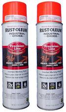 Rust-Oleum Survey Grade Fluorescent Orange Inverted Marking Paint - 2 Cans