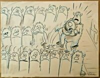 Disney Pixar Monsters Inc Animation Art Drawing Storyboard Signed Jorgen Klubien