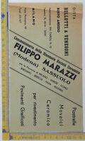 Volantino pubblicitario - materiali edili - Bellotti e Venegoni - Milano Anni 40