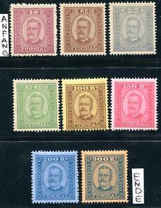 FUNCHAL 1892 2,3,6,8-12 ** POSTFRISCH TADELLOS offizielle NEUDRUCKE (Z4319