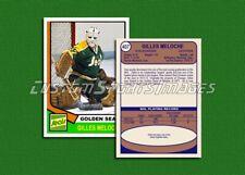 Gilles Meloche - California Golden Seals - Custom Hockey Card  - 1973-74