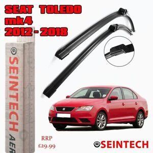 SEAT TOLEDO MK4 2012-2018 SPECIFIC FIT FRONT AND REAR WIPER BLADES + PLASTIC ARM