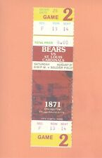 St.Louis Cardinals Chicago Bears 8-21-1976  NFL ticket stub Topps Walter Payton