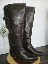 NWT Frye Women's Tall Dorado Riding Boots 77561, Brown Leather, Size 10