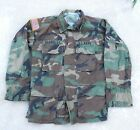 AUTHENTIC US Army Woodland Camouflage Pattern Combat Coat Size SMALL Regular
