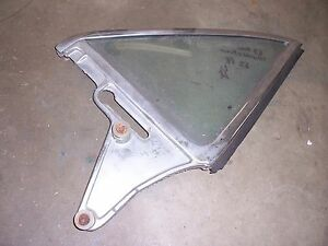 1961-1963 Ford Thunderbird 2 door hardtop quarter window glass frame PASSENGER