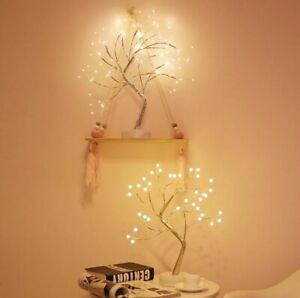 LED Night Light Mini Christmas Tree Copper Wire Garland Lamp