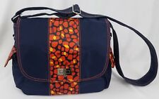 Hadaki by Kalencom Women's Trend Messenger Handbag Navy Pebbles Crossbody HB6