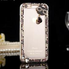 DIY Glitter Jewelled Bling Crystal Diamonds Soft gel Phone back Case Cover #A