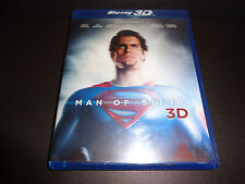 MAN OF STEEL-3D Blu-Ray w/2D version--How Superman came to Earth, Henry Cavill
