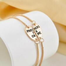 2Pcs Wholesale Chain Gift Anklet Partners In Crime Sisters Bracelet BestFriend