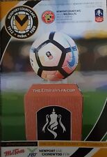 NEWPORT COUNTY v WALSALL * FA CUP * 2017/18