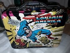 Vintage Marvel Captain America Metal Lunch Box - Jack Kirby Art