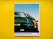 Prospekt / Katalog / Brochure VW Golf Colour Concept  05/97