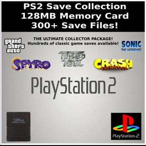 PS2 Save Collection | 300+ Saves | 100% Complete | 128MB Memory Card