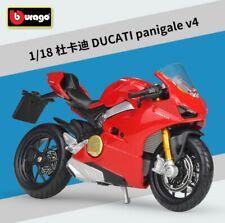 Bburago 1:18 Ducati Panigale V4 Motorcycle Bike Model Toy Red