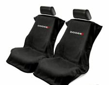 Pair 2 New Dodge Logo Emblem Black Towel Protector Seat Armour Covers