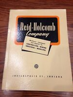 Reid-Holcomb Company Catalog E 1950. Machinery & Equipment, Indianapolis, IN