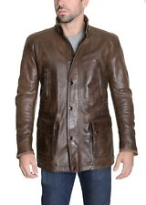 Matchless London Mens Brown Genuine Leather Jacket Size Large Made in Italy