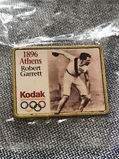 1896 KODAK Robert Garrett Track USA Athens  Green OLYMPIC Back PIN New