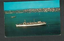 unmailed post card MSTS ship USNS General H B Freeman in Seattle