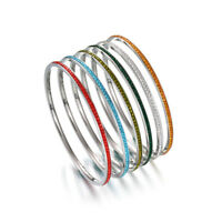 Stainless Steel Full Rhinestone Crystal Bangle Bracelet Women Jewelry QQQ