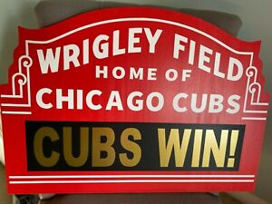 Custom Wrigley Field Marquee Chicago Cubs Collectible Sign Memorabilia Your Text