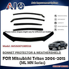 AD BONNET PROTECTOR & WEATHERSHIELD VISOR FOR Mitsubishi Triton ML MN 2006-2015