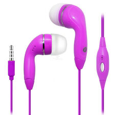 Hot Pink Color 3.5mm Earphones Handsfree Remote Control with Mic. Stereo Headset