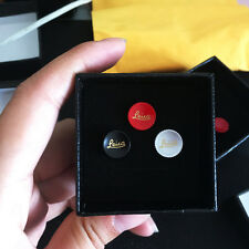 SALE 3 pcs Soft Release Buttons for Leica M, 11mm, Red/Black/Silver