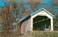 Rockville~Parke County Indiana~Sim Smith Covered Bridge~14-61-14~1960s Postcard