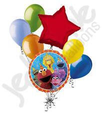 7 pc Sesame Street Fun Balloon Bouquet Party Decoration Elmo Cookie Birthday