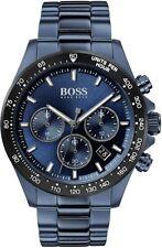 HUGO BOSS HB1513758 HERO BLUE STAINLESS STEEL MEN'S WATCH CHRONOGRAPH + GIFT BAG