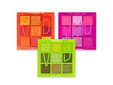 W7 Vivid Eyeshadow Palette - Orange Green Pink Set Bright Neon Eye Shadow