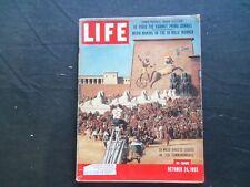 1955 OCTOBER 24 LIFE MAGAZINE - CECIL B. DEMILLE'S TEN COMMANDMENTS - L 978