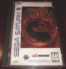 Mortal Kombat Trilogy   (Sega Saturn, 1997)   COMPLETE GAME IN CASE WITH MANUAL