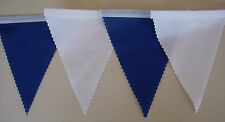 Blue & White Fabric football Bunting Decoration christmas Gift 2 mt or more