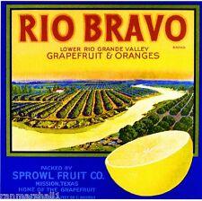 Mission Texas Rio Bravo Rio Grande Valley Orange Citrus Crate Label Art Print