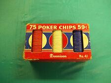 Vintage Playing Cards Poker Chips Dennison #41