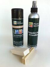Four Seasons Sheepskin, Suede, Nubuck Cleaner & Protector Kit w/ Brush and Bar-