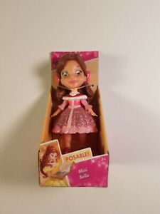 disney princess mini belle doll posable new in package